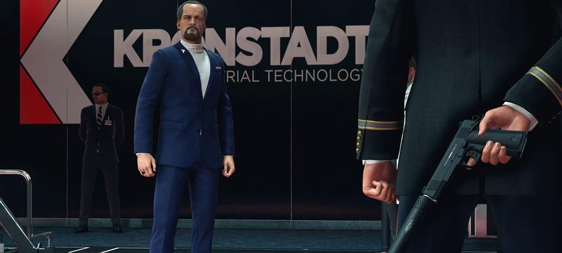 Персонажи в Hitman 2 могут наступить на грабли и впасть в ступор