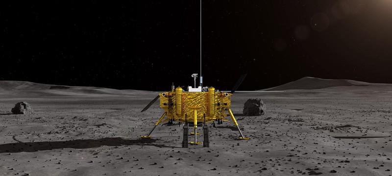 Китайский аппарат сел на Луну — первое фото