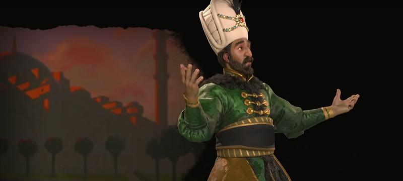 Сулейман Великолепный — лидер Османской империи в Civilization VI: Gathering Storm