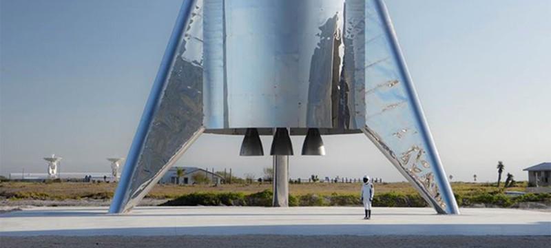 Сильный ветер обрушил прототип ракеты Starship Илона Маска
