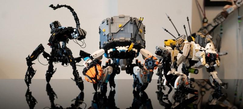 Фанат Horizon Zero Dawn собрал модели рободинозавров из LEGO