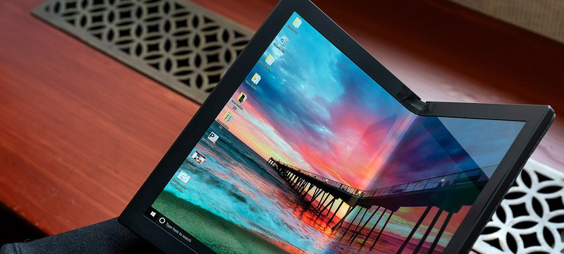 Lenovo показала первый прототип ноутбука со складным экраном