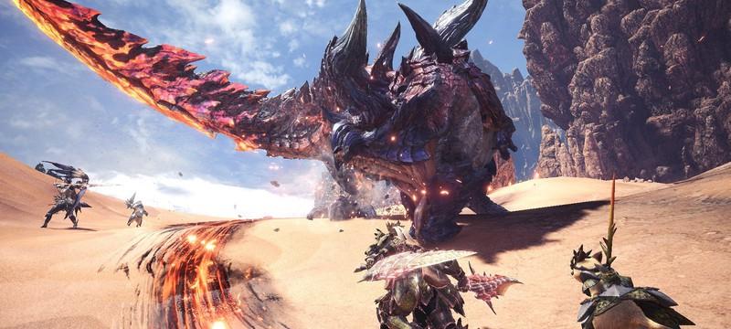 Отдых в горячих источниках и битва с Glavenus в геймплее Monster Hunter World: Iceborne