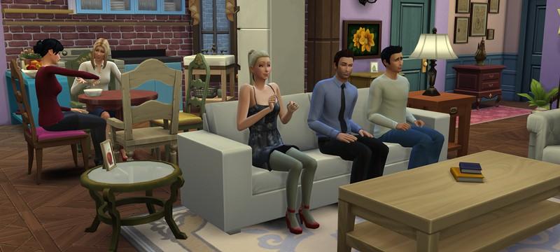 """В The Sims 4 воссоздали детальную копию сцен из сериала """"Друзья"""""""