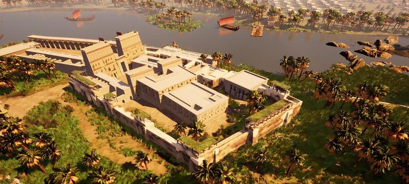Строительство древнеегипетского города в геймплее Builders Of Egypt
