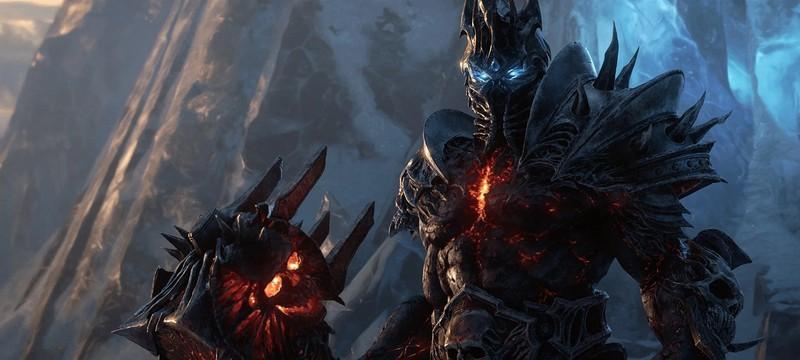 Король-лич на арте Shadowlands для World of Warcraft