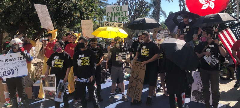 У входа на BlizzCon прошел протест в поддержку Гонконга