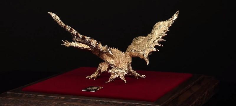 В продажу поступили статуэтки Monster Hunter из золота и серебра
