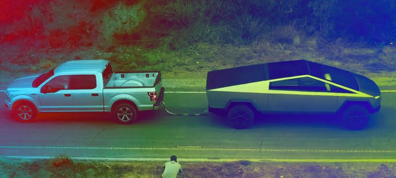 Tesla Cybertruck с легкостью перетянул Ford F-150