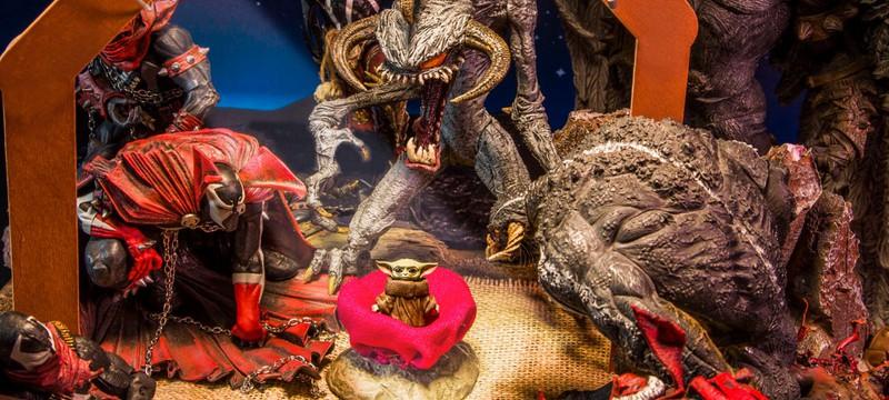 """Странный кроссовер: демоны из """"Спауна"""" встречают малыша Йоду"""