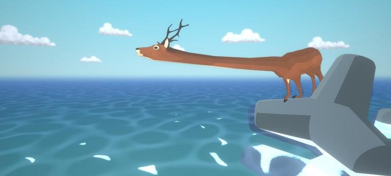 В Steam вышла игра DEEEER Simulator про безумного оленя с драконами, трансформерами и летающими слонами