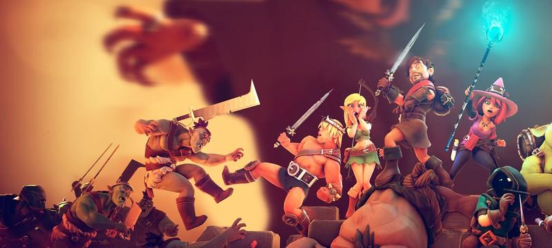 Приключения группы героев в первом трейлере тактической RPG The Dungeon of Naheulbeuk