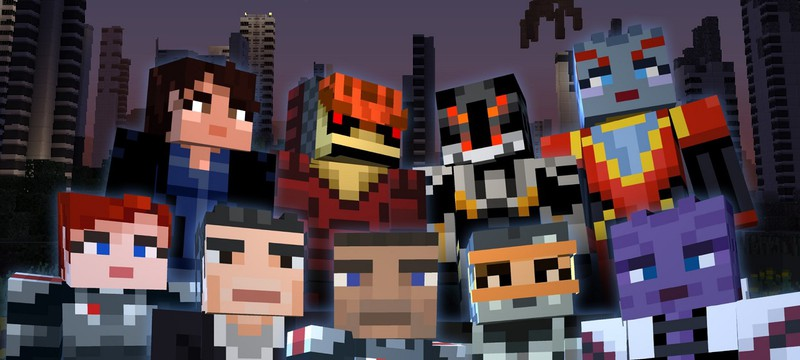 Шепард, Лиара, Гаррус и другие в тематическом паке Mass Effect для Minecraft