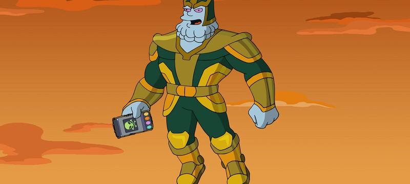 """Кевин Файги пародирует Таноса в отрывке из специального выпуска """"Симпсонов"""""""