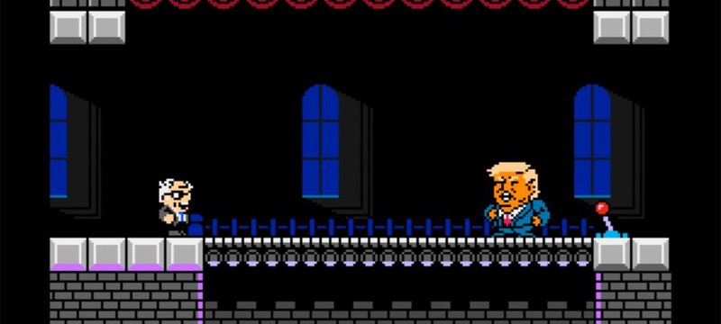 Кандидата в президенты США Берни Сандерса превратили в персонажа платформера