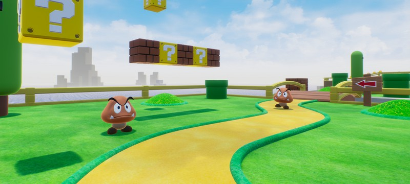 Энтузиаст представил первый уровень Super Mario Bros. в виде шутера на UE4