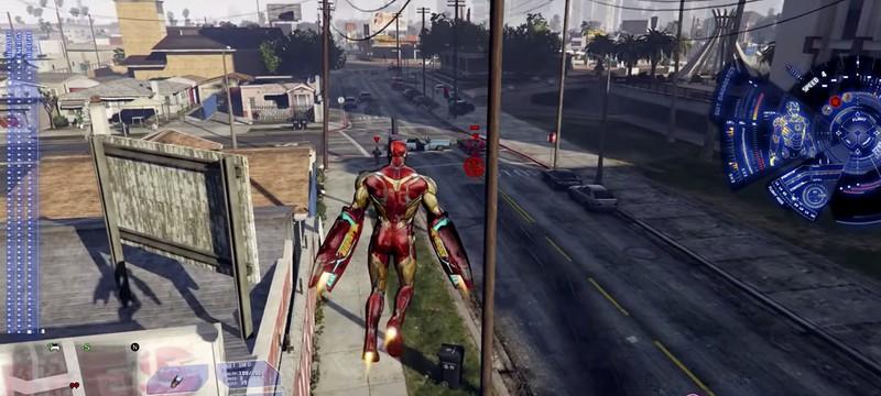 """В GTA 5 добавили функциональный костюм Железного человека из """"Мстители: Финал"""""""