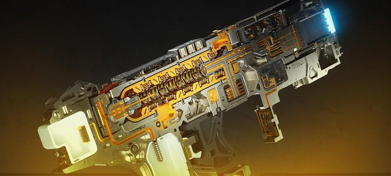 Посмотрите на это супер-детализованное футуристическое оружие