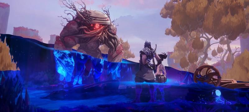Шен и Акали против древесного стража в сюжетном ролике Legends of Runeterra