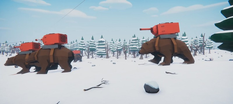 Масштабные битвы и медведи-танки в новом трейлере Total Tank Simulator