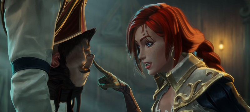 Ловушка Мисс Фортуны для Твистед Фэйта и Грейвза в ролике Legends of Runeterra