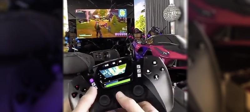 """""""Саудовский принц"""" показал футуристический контроллер PS5 с раздвигающимися дисплеями"""