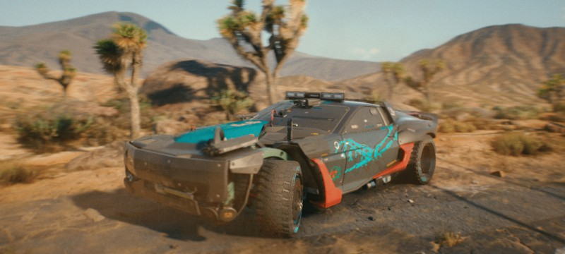 Разработчики Cyberpunk 2077 показали кастомный автомобиль в пустыне