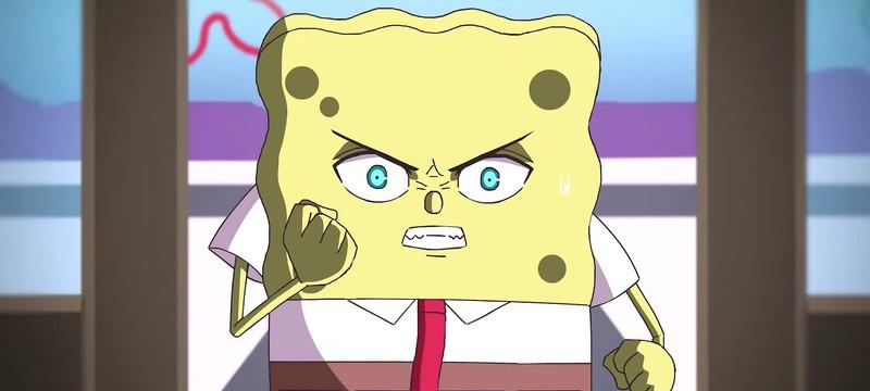 Борьба за секретный рецепт в первом трейлере фанатского аниме про Губку Боба