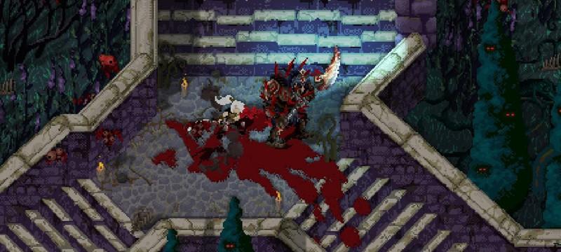 Первый трейлер мрачного кровавого пиксельного экшена Morbid: The Seven Acolytes
