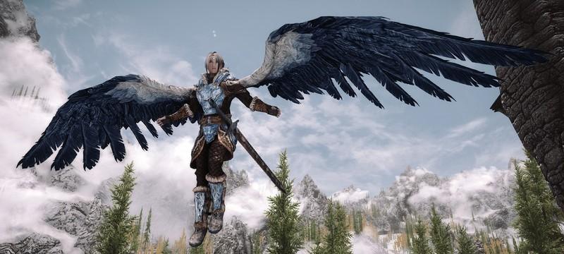 Эти моды для The Elder Scrolls V: Skyrim позволяют летать на крыльях