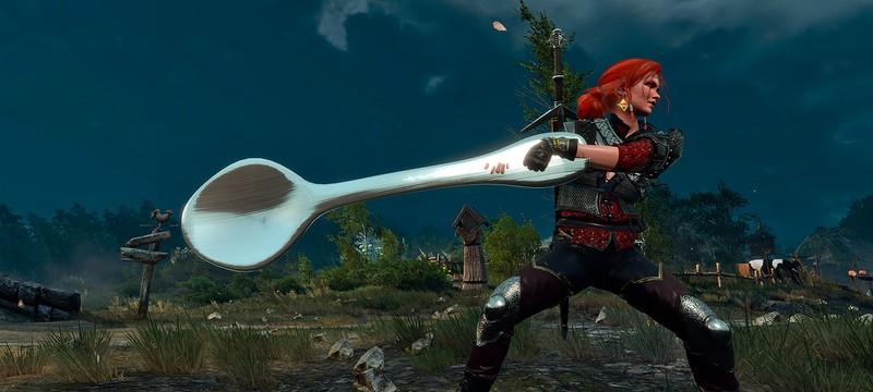 Для The Witcher 3 вышел комичный мод с гигантской ложечкой