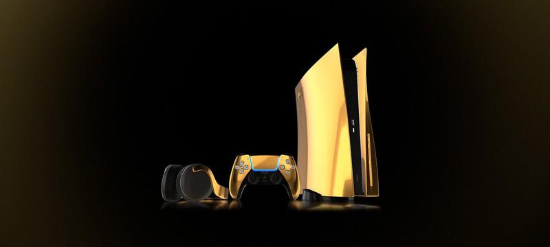Компания Truly Exquisite выпустит PS5 покрытую золотом в 24 карата