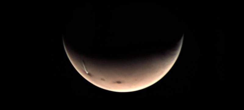 На Марсе в очередной раз появилось огромное ледяное облако