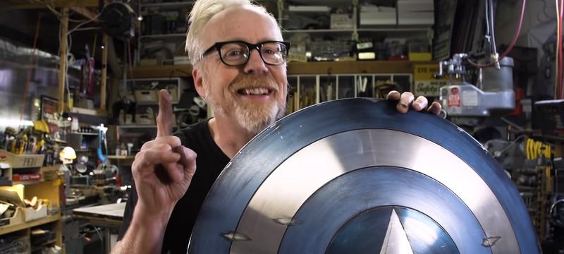 Адам Сэвидж улучшил щит Капитана Америка, добавив к нему обод