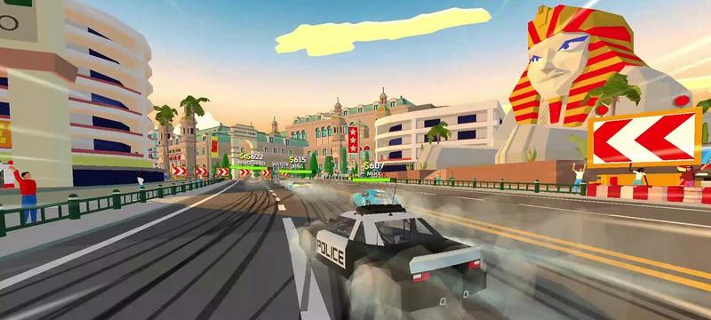 Трасса с динозаврами и быстрые гонки в релизном трейлере аркады Hotshot Racing