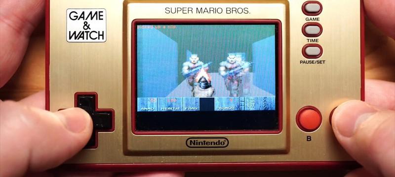 Блогер запустил оригинальную DOOM на Game & Watch от Nintendo