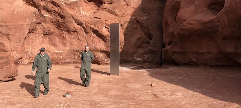 В Юте нашли странный металлический монолит