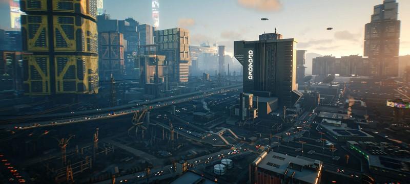 Атмосферная прогулка по Найт-Сити из Cyberpunk 2077