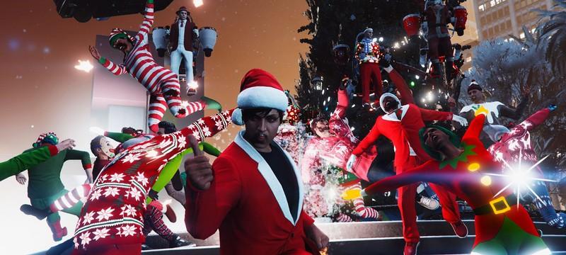 В GTA и Red Dead Online начались зимние праздники