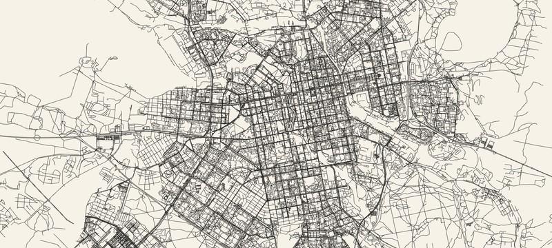 Простой инструмент рисует стильные карты любых городов мира