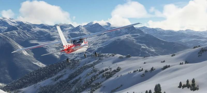 В Microsoft Flight Simulator выпал снег