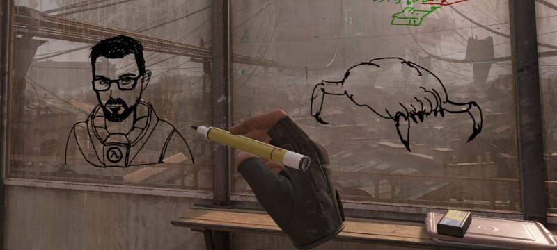 Юная Аликс и рисунок вортигонта — ранние концепты Half-Life: Alyx