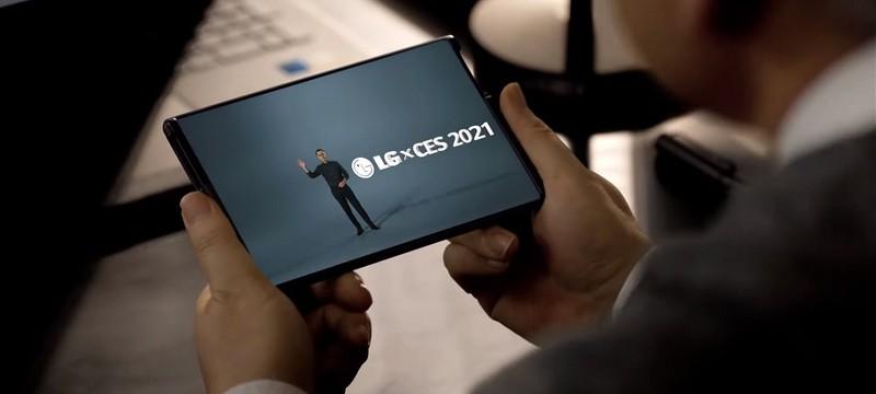 CES 2021: LG показала смартфон с раздвижным экраном и небольшие OLED-панели