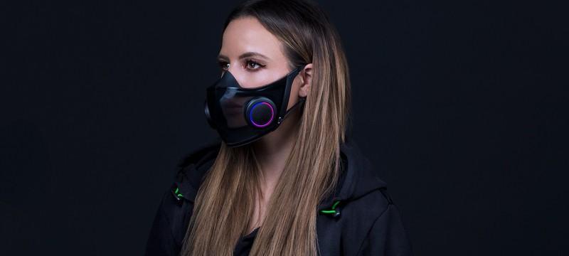 CES 2021: Razer показала многоразовую маску с RGB-подсветкой