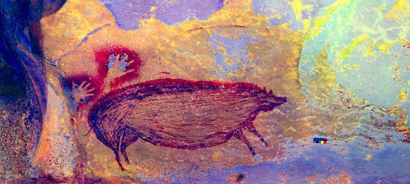 В Индонезии нашли наскальный рисунок возрастом в 45.5 тысяч лет