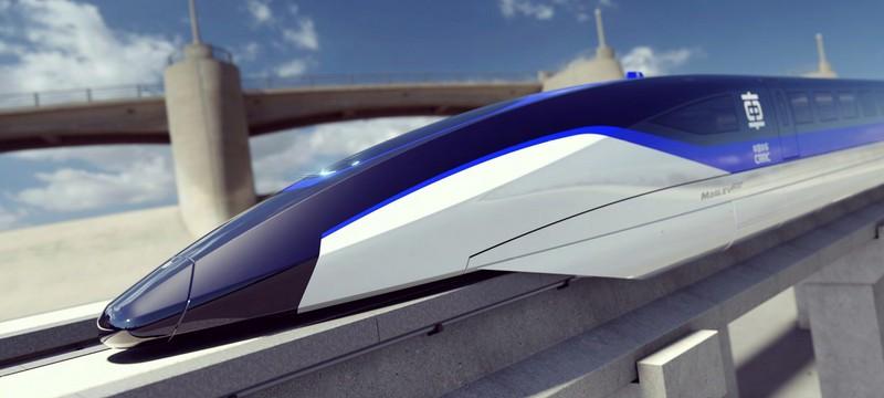 В Китае провели испытания маглев-поезда с максимальной скоростью 620 км/ч