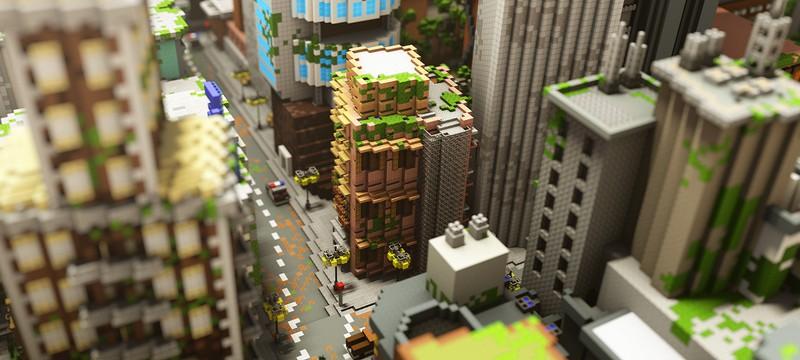 Mojang выпустила карту экологически гармоничного города для Minecraft