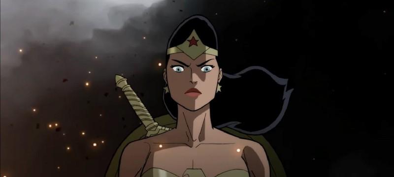 Чудо-женщина против нацистов в клипе из мультфильма Justice Society: World War II