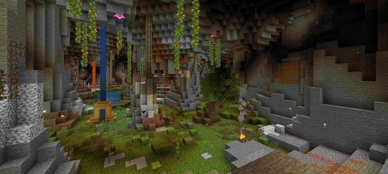 Все что известно о пышных пещерах в большом обновлении Minecraft версии 1.17