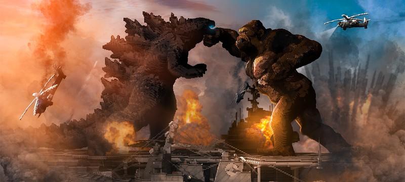 """Игроки Minecraft воссоздали кадр из """"Годзиллы против Конга"""""""